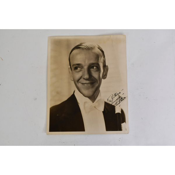 Vintage 1940s Fred Astaire Black & White Photo Autographed/Dedicated To Kathryn