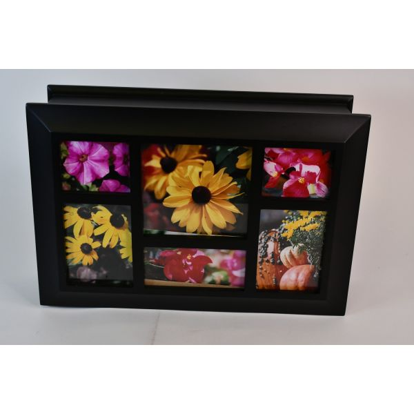 Hobby Lobby Black Wooden Rectangular Storage Box With Hinged Picture Frame Lid