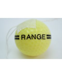 Floater Range Yellow & Black Golf Ball- signs of wear due to use
