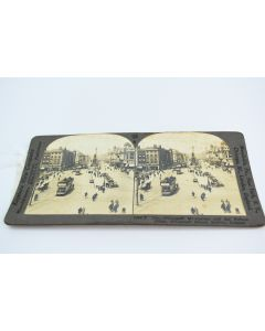 Vintage Keystone View O'Connell St, Dublin, Ireland Stereoview Photo Made In USA