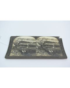 Vintage Keystone View Cutting Peat Northwest Ireland Stereo Photo Made In USA