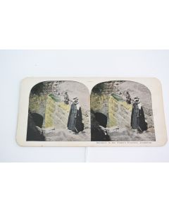 Vintage Entrance To The Virgin's Fountain, Jerusalem Stereoview Picture Card
