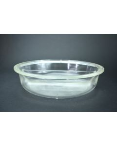 Vintage Pyrex 595 Clear Glass Divided Serving Round Bowl Dish With Ribbed Bottom