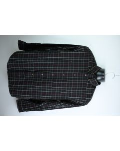 Roundtree & Yorke Easy Care Mens Plaid Cotton Long Sleeve Button Up Shirt Sz M