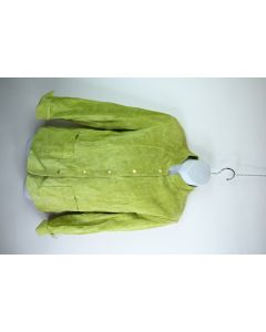 David Brooks Womens Faux Suede 100% Acetate Lined Green Snap Front Jacket Size M