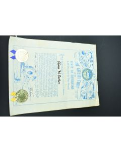 The Great Navy Of The State Of Nebraska Admiral Signed By Governor 1983 W/Seals