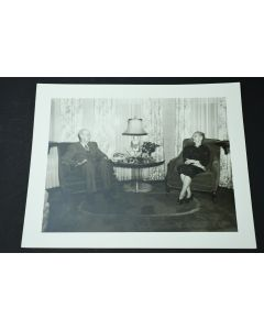 Vintage Claude Constable Studios Old Couple Gazing At Each Other Collector Photo