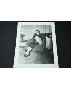 Vintage Claude Constable Studios Old Lady In Chair Holding Cat Collectible Photo