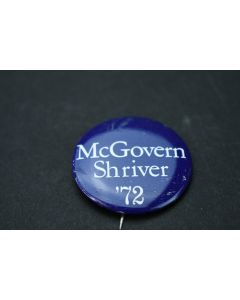 Vintage McGovern Shriver '72 Political Presidential Election Metal Campaign Pin