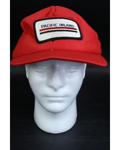 Red Foam Embroidered Pacific Inland Logo Baseball Cap W/Adjustable Snapback Hat