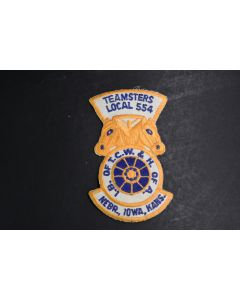 Teamsters Local 554 I.B. Of T.C.W. & H. Of A. Nebr. Iowa Kans. Embroidered Patch