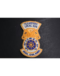 Teamsters Local 554 Nebr. Iowa Kans. I.B. Of T.C.W. & H. Of A. Embroidered Patch