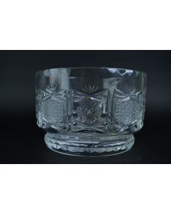 Crystal Clear Glass Star Cut Pineapple Heavy Serving/Décor 7.75-Inch Footed Bowl