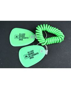 Set Of 2 State Farm Green Be A Good Neighbor Designated Driver Green Keychains