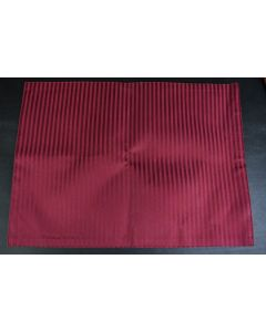 Set Of 2 Burgundy Striped Fabric 18-Inch Place Mats Table Linens Kitchen DIning