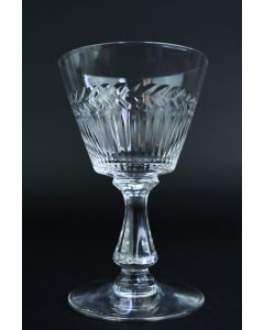 Crystal Clear Textured Small 4.25-Inch Stemmed Goblet Glass Kitchen Tableware