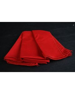 Set Of 4 Red Fabric Cloth 13.75-Inch Square Napkins Kitchen Dining Table Linens