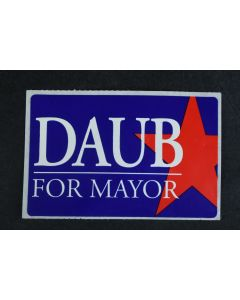 Daub For Mayor Political Campaign Lapel Blue And Red Bumper Laptop Sticker