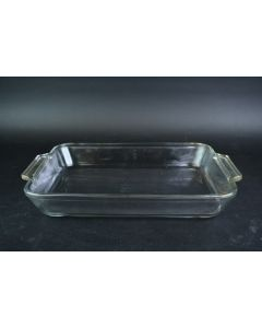 Anchor Hocking Clear Glass Ovenware 13.5 In. 3 Qt. Baking Dish #1040 W/Handles