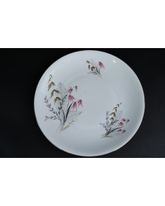 Royal Duchess Fine China Bavaria Floral Silver Trim Dinner Plate Dining Germany