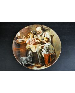 Knowles Norman Rockwell The Toy Maker Fine China Collector Display Plate W/COA