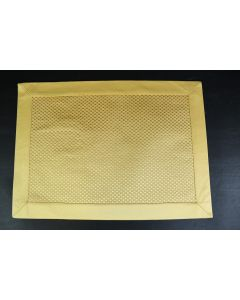 Set Of 8 Honey Yellow Checkered Table 18-Inch Placemats W/Solid Border Linens