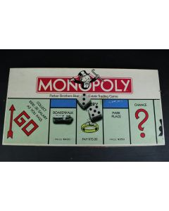 Retro 1985 Monopoly Parker Brothers Real Estate Trading Board Game No. 009 Toys
