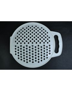 White Round With Handle Cheese Grater Shredder Kitchenware Cookware Tool Utensil