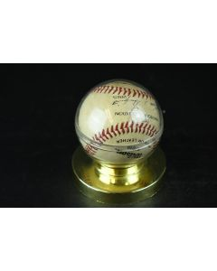Wilson A1010 Baseball Signed in Case Sports Official American