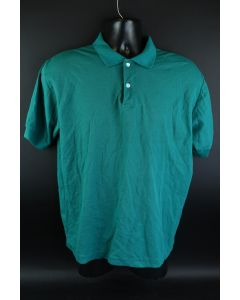 McGregor Mens Bright Green Short Sleeve Cotton Polyester Blend Polo Shirt Size L