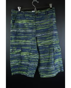 Ocean Current Men's Green & Blue Polyester Swimming Board Water Shorts Size 30