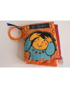 B Seen Multicolor Cloth Learning Activity Peek-A-Boo Book By Baby B Washable Toy