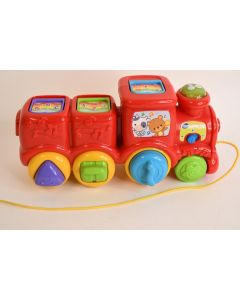 Vtech Roll & Surprise Animal Pop-Up Train W/Shapes Singing Rain Baby Toy 1511