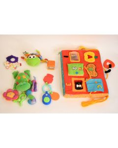 Set Of 6 Fun Multicolor Baby Toddler Toy Teether Plush Learning Noise Maker Game