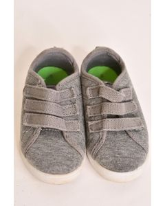 Andi Lt. Gray Boys' Toddlers' Slip On Sneaker Shoes Non-Marking W/Straps Size 6