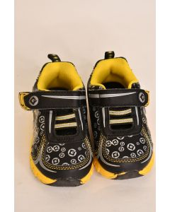 Despicable Me Minion Boys' Toddlers' Black & Yellow Sneaker Tennis Shoes Size 6