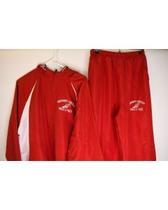 Red & White Track & Field Matching Jacket Size 12 & Med Pants W/Abraham Lincoln