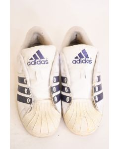 Adidas Women's White With Blue Stripes Sneakers Tennis Shoes Size 8 Walking