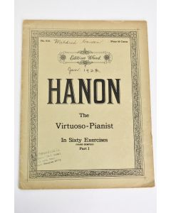 Vintage No. 616. Edition Wood Hanon The Virtuoso-Pianist In 60 Exercises Part I