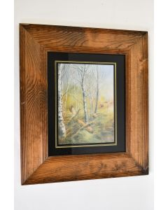 Rustic Great Outdoors 12.5 In x 14.5 In Framed Flushing Ringnecked Pheasants