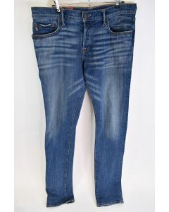 Abercrombie & Fitch NY Mens Super Skinny Blue Cotton Button Fly Jeans Size 34/34