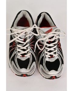 Catapult Men's Black Red Gray Walk Lace Up Tennis Shoes W/Leather Upper Size 7.5