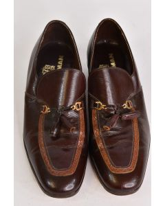 Freeman Shoes For Men Brown Rondo Slip On Dress Loafer Shoes W/Low Heel Size 10C