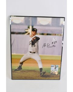 1993 Alan Benes Baseball Pitcher Signed 16.5 In x 20.5 In Framed Picture & Card