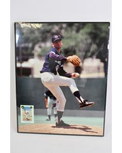 1990 Dan Smith Baseball Pitcher Signed Framed Picture & Trading Card Sports NIP