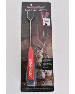 Squeeze-N-Flavor Marinade 13 In. Injector Red Handle Holds 2.5 Oz. Grilling NIP