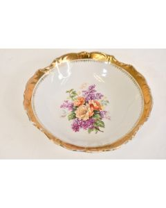 ANTIQUE Three Crowns China Serving Bowl Unger And Schilde Germany 1909 To 1916
