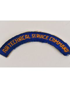 Vintage WW2 US Army Air Technical Service Command Tab Embroidered Military Patch