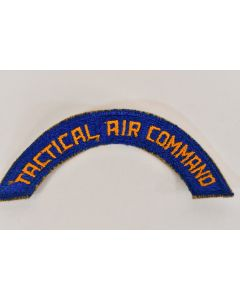 Vintage WW2 USAAF Army Tactical Air Command Tab Blue Embroidered Military Patch