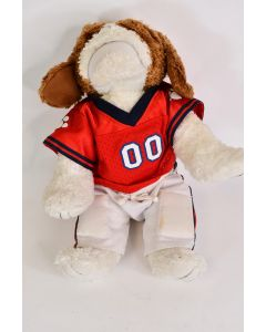 The Bear Factory 15.5 In Bulldog Wearing Red Football 00 Jersey & White Pants